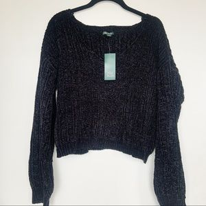 NWT Wild Fable Chenille V Neck Sweater